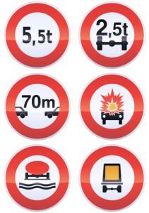 Panneaux d'interdiction métal (détouré)